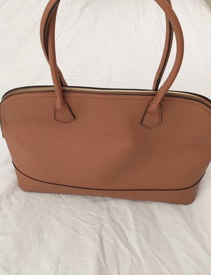 Not branded Simple Basic Clean Classic Professional Satchel in Tan Image 9