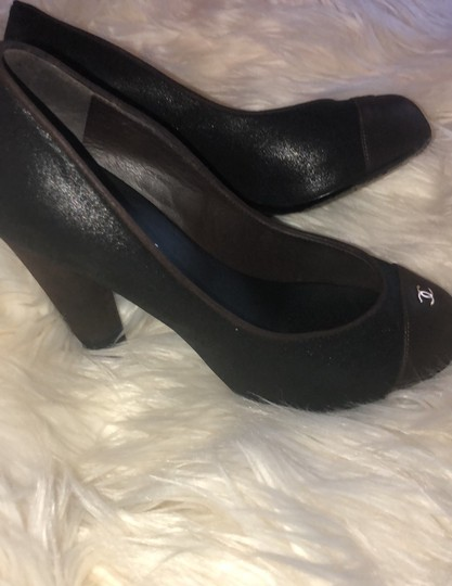 Chanel black and brown Pumps Image 5