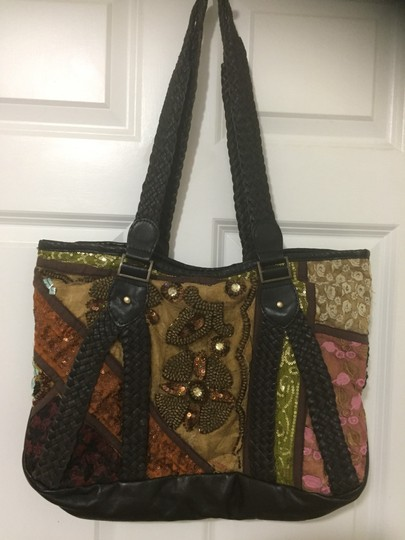 Antik Batik Tote in multi Image 3