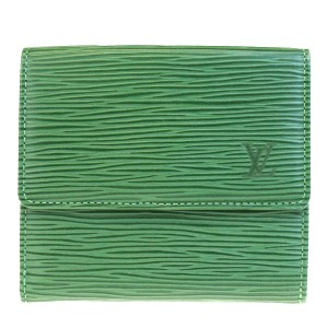 Louis Vuitton Authentic LOUIS VUITTON Porte Monnaie Bie Cartes Credit Trifold Wallet