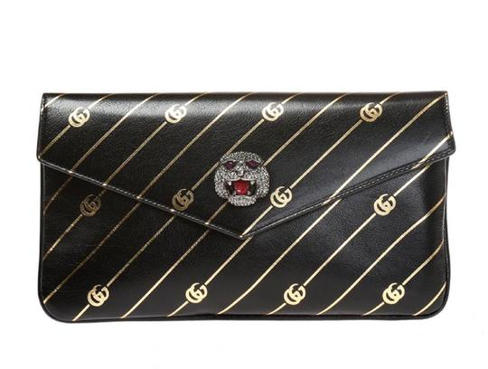 Gucci Gg-archive-p Envelope East Broadway Black Clutch Image 2
