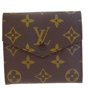 Louis Vuitton Authentic LOUIS VUITTON Porte Monnaie Double Snap Wallet Purse