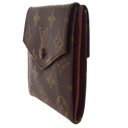 Louis Vuitton Authentic LOUIS VUITTON Porte Monnaie Double Snap Wallet Purse Image 1