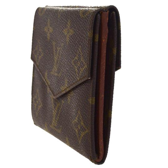 Louis Vuitton Authentic LOUIS VUITTON Porte Monnaie Double Snap Wallet Purse Image 4