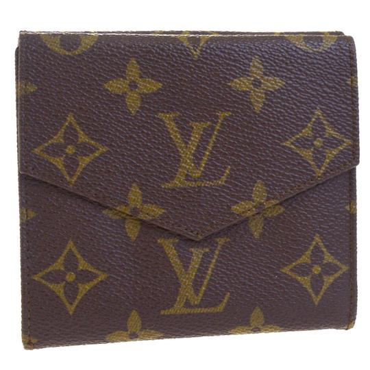 Louis Vuitton Authentic LOUIS VUITTON Porte Monnaie Double Snap Wallet Purse Image 5