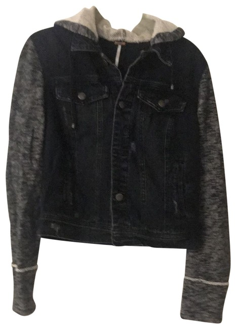 Free People black Womens Jean Jacket Image 0