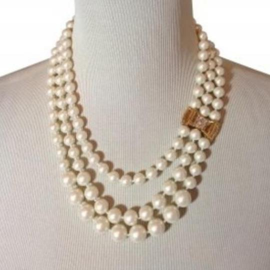 Kate Spade Kate Spade Moon River Triple Strands Pearl Necklace Image 2