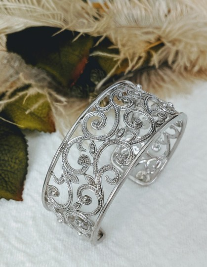 JTV Off Park Collection JTV Sterling Silver Diamond Cuff Bracelet Image 0
