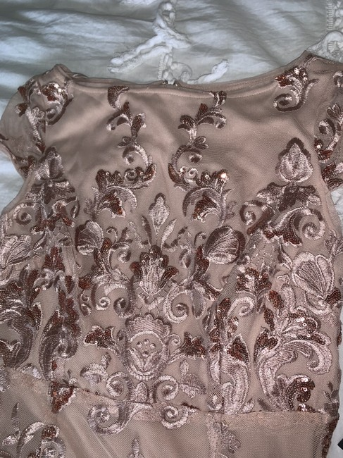 Marina Dresses Blush Sequin Formal Fitted Dress Image 2