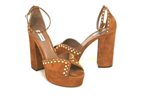 Tabitha Simmons Camel Brown Sandals
