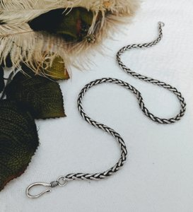 Artisan Crafted Artisan Sterling Silver Wheat Chain Necklace
