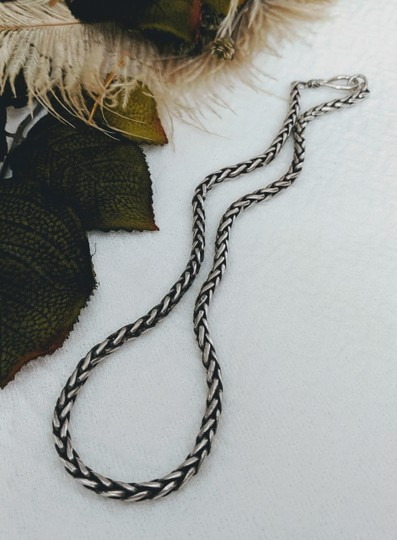 Artisan Crafted Artisan Sterling Silver Wheat Chain Necklace Image 1