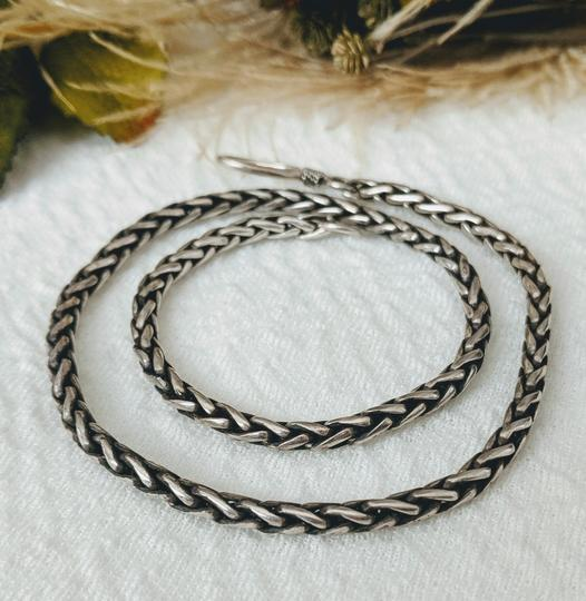 Artisan Crafted Artisan Sterling Silver Wheat Chain Necklace Image 3