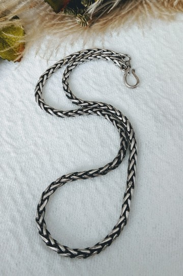 Artisan Crafted Artisan Sterling Silver Wheat Chain Necklace Image 4