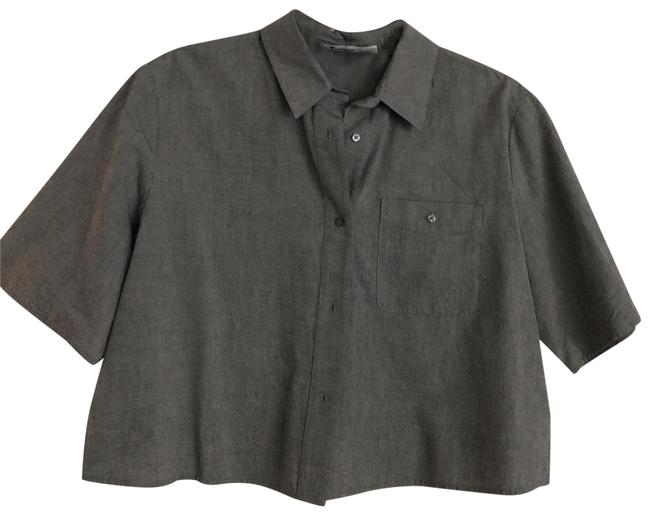 Preload https://img-static.tradesy.com/item/25952482/t-by-alexander-wang-gray-boxy-crop-with-pleated-back-button-down-top-size-6-s-0-3-650-650.jpg