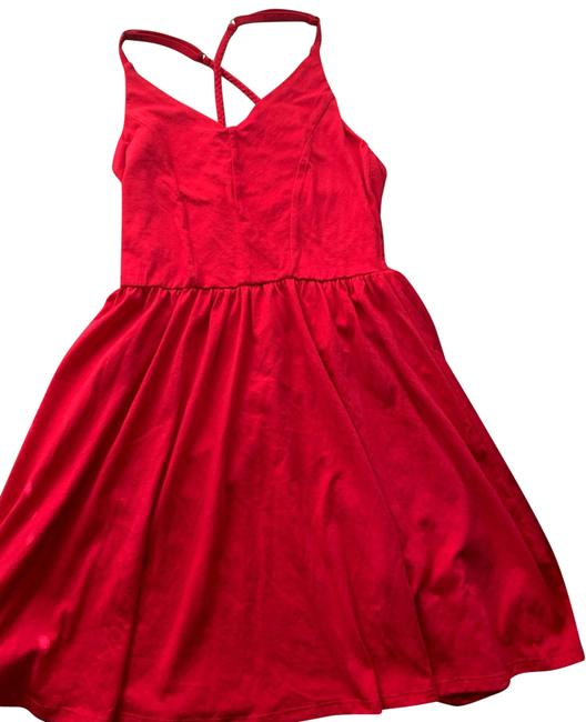 Preload https://img-static.tradesy.com/item/25952524/red-mid-length-short-casual-dress-size-6-s-0-4-650-650.jpg