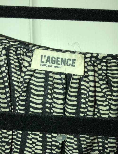 L'AGENCE Top black and gray. Image 3