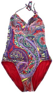 Etro Etro Multicolor paisley print halter top swimsuit size 6 US size 42 Italy