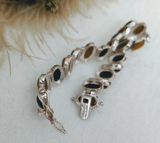 Artisan Crafted Artisan Crafted Sterling Onyx Tiger Eye Bracelet Image 5