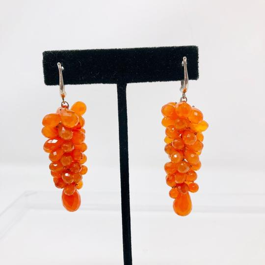 Susan Wexler Design 14K white gold, faceted carnelian earrings, 28.3g Image 1