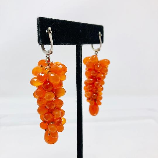 Susan Wexler Design 14K white gold, faceted carnelian earrings, 28.3g Image 2