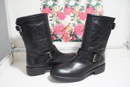 Aquatalia Buckle Leather Ankle Black Boots Image 1