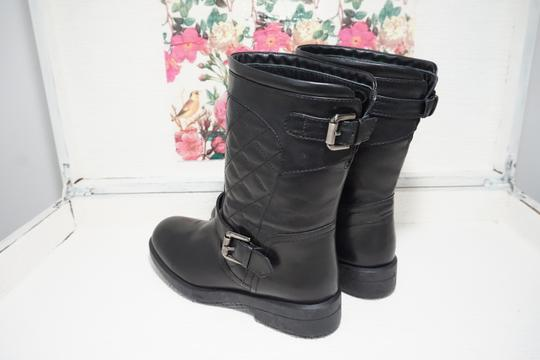 Aquatalia Buckle Leather Ankle Black Boots Image 2