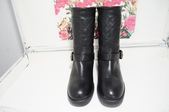 Aquatalia Buckle Leather Ankle Black Boots Image 3