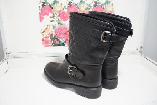 Aquatalia Buckle Leather Ankle Black Boots Image 5