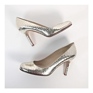 Kate Spade Gold Metallic Pumps