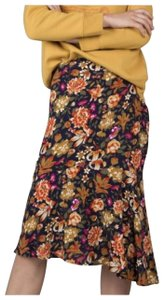 Natura Asymmetrical Made In Spain Trendy Skirt Floral