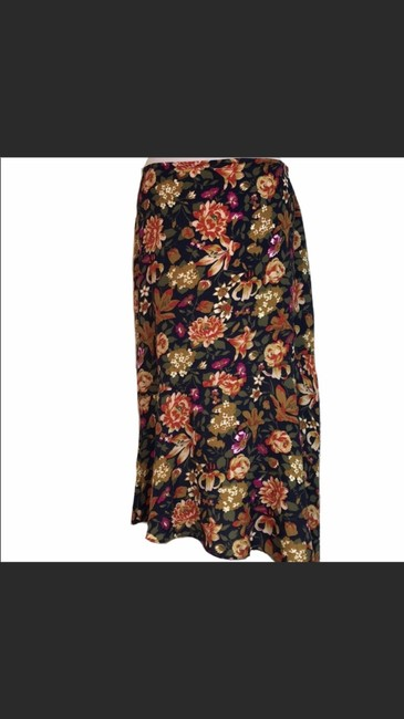 Natura Asymmetrical Made In Spain Trendy Skirt Floral Image 2