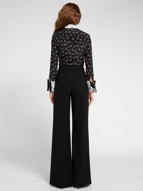 Alice + Olivia Button Down Shirt black/withe silk with tag Image 3
