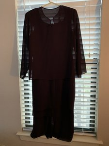 Patra Plum Mother Of The Bride Formal Bridesmaid/Mob Dress Size 14 (L)