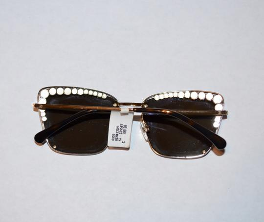 Chanel SQUARE PEARL GOLD LOGO SUNGLASSES SUNNIES Image 6