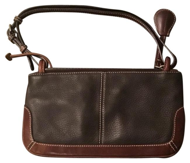 Item - Black and Brown Leather Wristlet