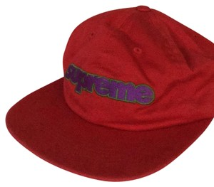 Supreme Supreme red hat connect logo 6 panel DEADSTOCK