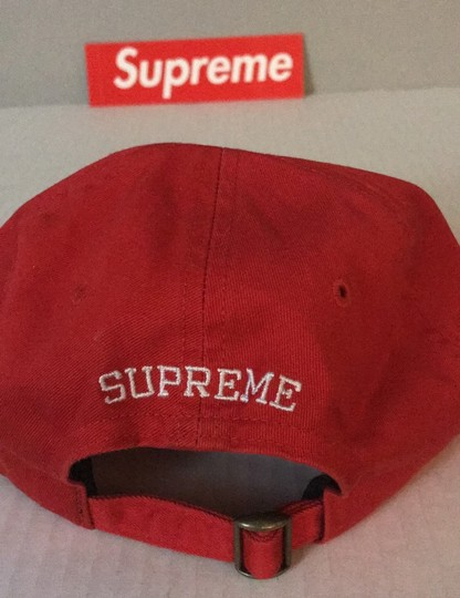 Supreme Supreme red hat connect logo 6 panel DEADSTOCK Image 3
