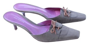 Ann Taylor taupe Mules