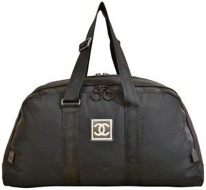 Chanel Shoulder Carry On Black Travel Bag
