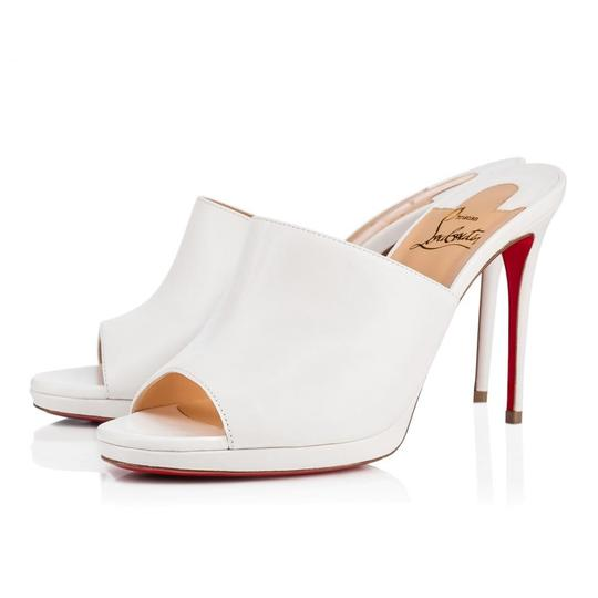 Preload https://img-static.tradesy.com/item/25953225/christian-louboutin-white-pigamule-100mm-leather-classic-heels-c020-mulesslides-size-eu-40-approx-us-0-0-540-540.jpg