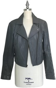 Frenchi Nordstrom Grey Leather Jacket