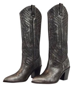 Frye metallic black Boots