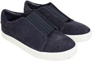 Vince Suede Stretchy Sneaker Slip On Blue Athletic