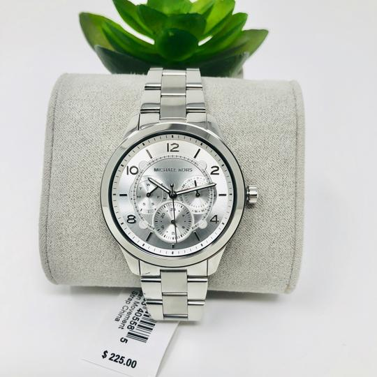 Michael Kors NEW Women's Runway Chronograph Stainless Steel Watch MK6587 Image 2