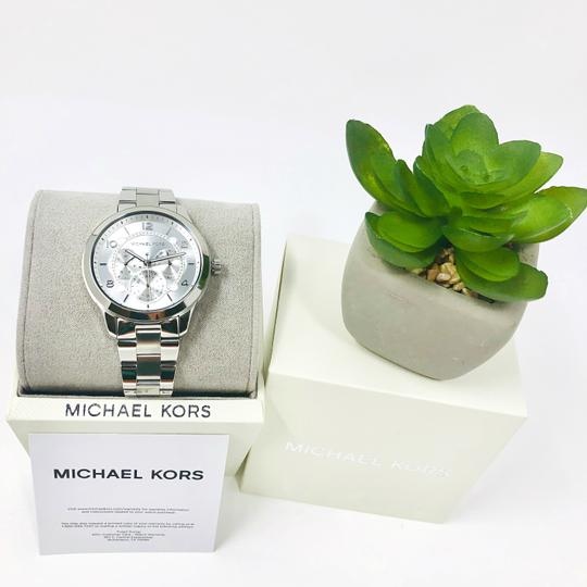 Michael Kors NEW Women's Runway Chronograph Stainless Steel Watch MK6587 Image 8