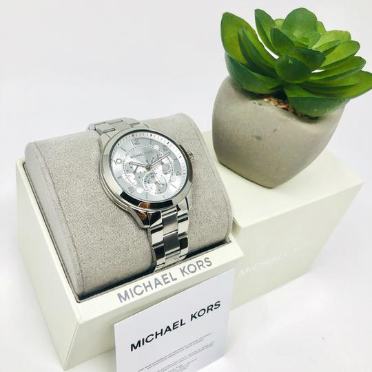 Michael Kors NEW Women's Runway Chronograph Stainless Steel Watch MK6587 Image 9