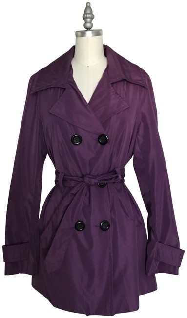 Item - Purple Double-breasted Coat Size 8 (M)