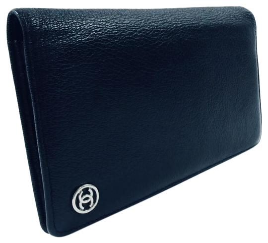 Preload https://item1.tradesy.com/images/chanel-coco-cabas-long-wallet-cc-button-pewter-calfskin-leather-clutch-25953530-0-4.jpg?width=440&height=440