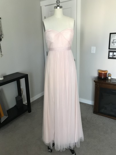 BHLDN Blush Tulle Annabelle Formal Bridesmaid/Mob Dress Size 2 (XS) Image 1